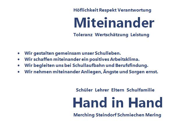 Leitbild der Grund- und Mittelschule Merching